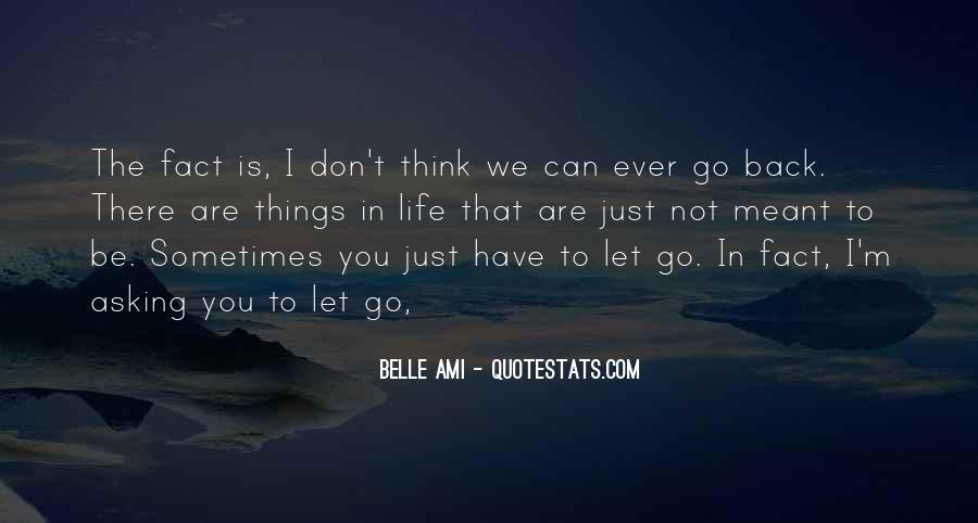 Sometimes You Can't Go Back Quotes #581508