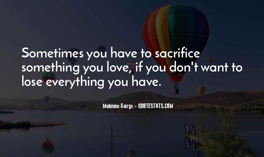 Sometimes You Have To Lose Everything Quotes #1380968