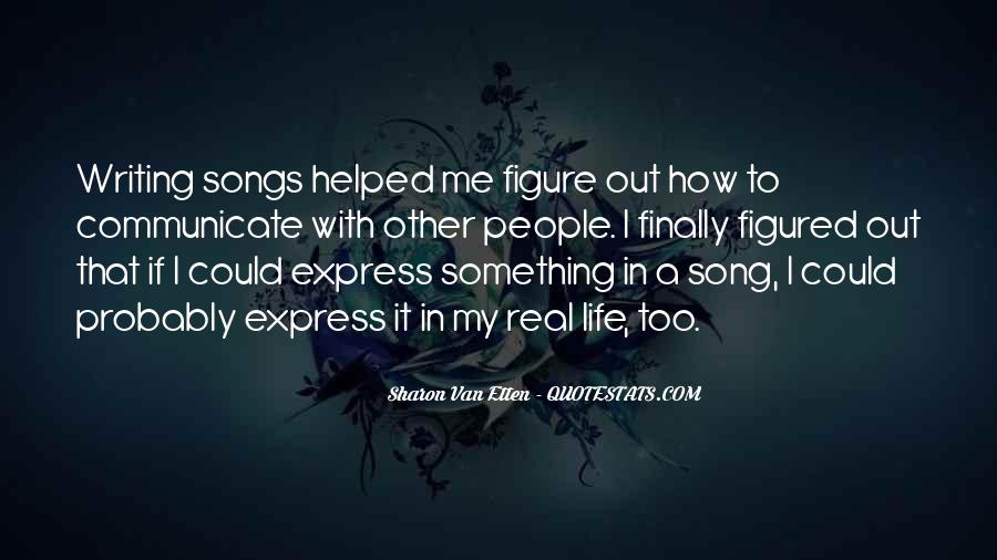 Songs In Real Life Quotes #296600