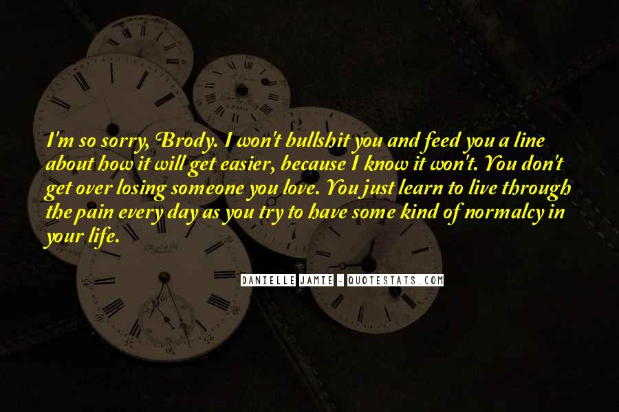 Sorry About Love Quotes #450890