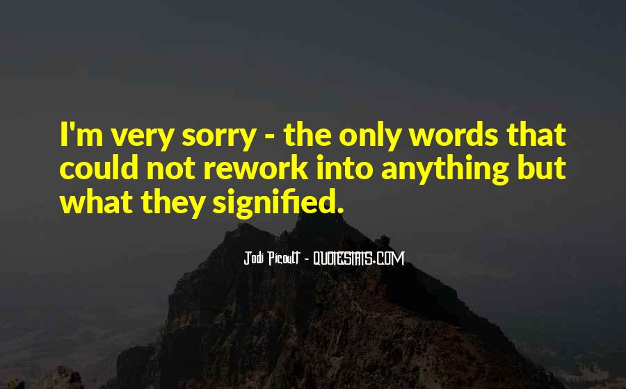 Sorry But Not Sorry Quotes #11755