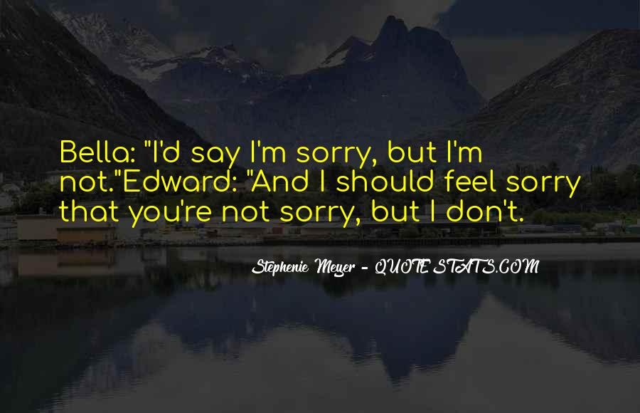 Sorry But Not Sorry Quotes #325023