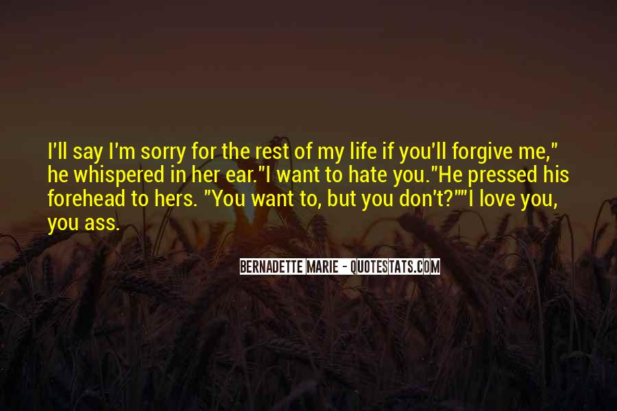 Sorry For Love You Quotes #30092