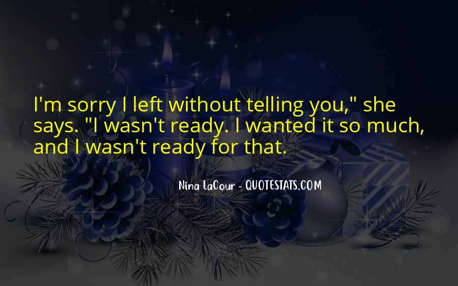 Sorry For Love You Quotes #391674