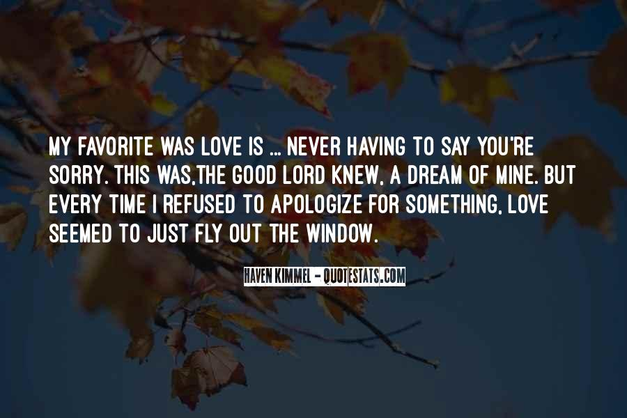Sorry For Love You Quotes #43987