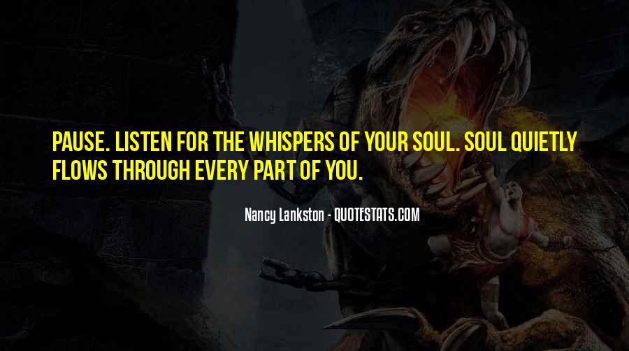 Soul Whisper Quotes #137736