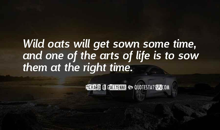 Sow Wild Oats Quotes #519510