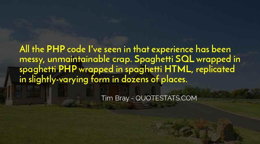 Spaghetti Code Quotes #1587858