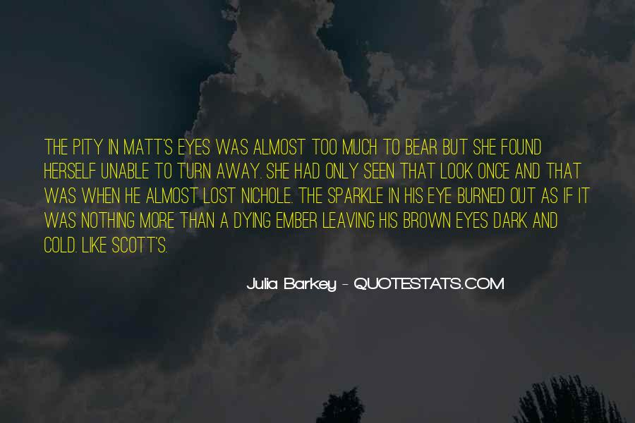Sparkle In Her Eye Quotes #983506