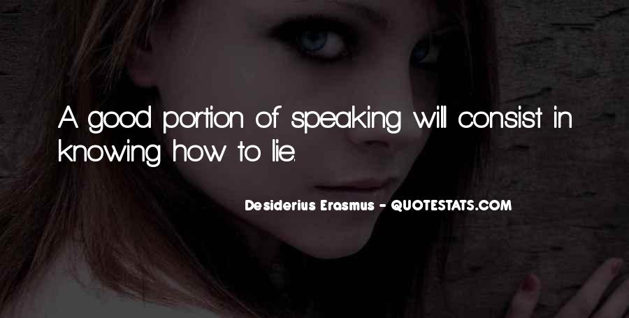 Speaking Without Knowing Quotes #127230