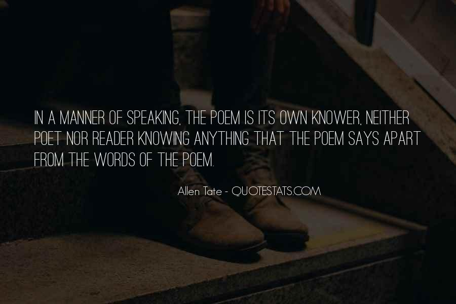 Speaking Without Knowing Quotes #1664100