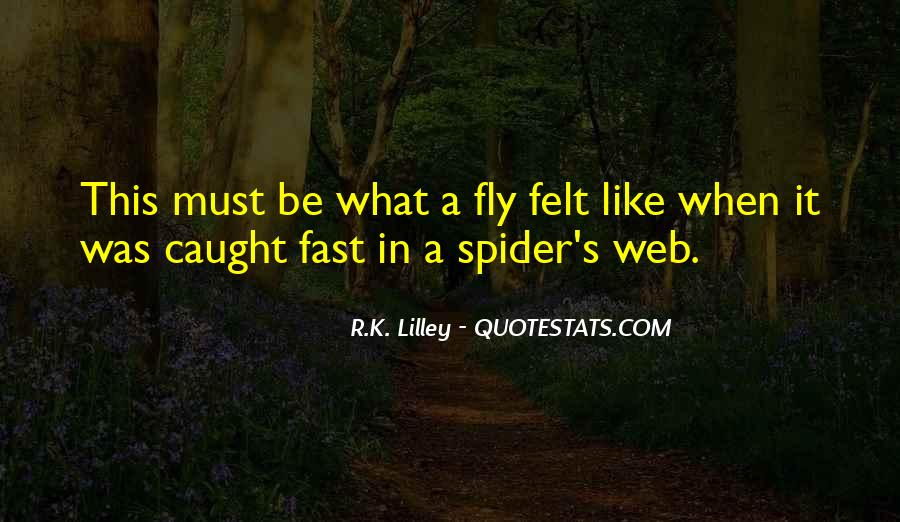Spider's Web Quotes #1444796