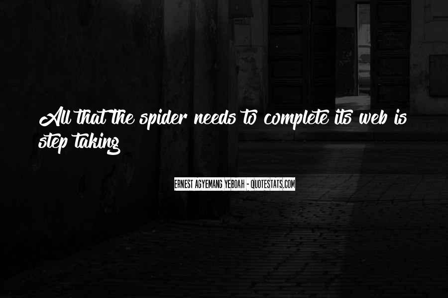 Spider's Web Quotes #1638039