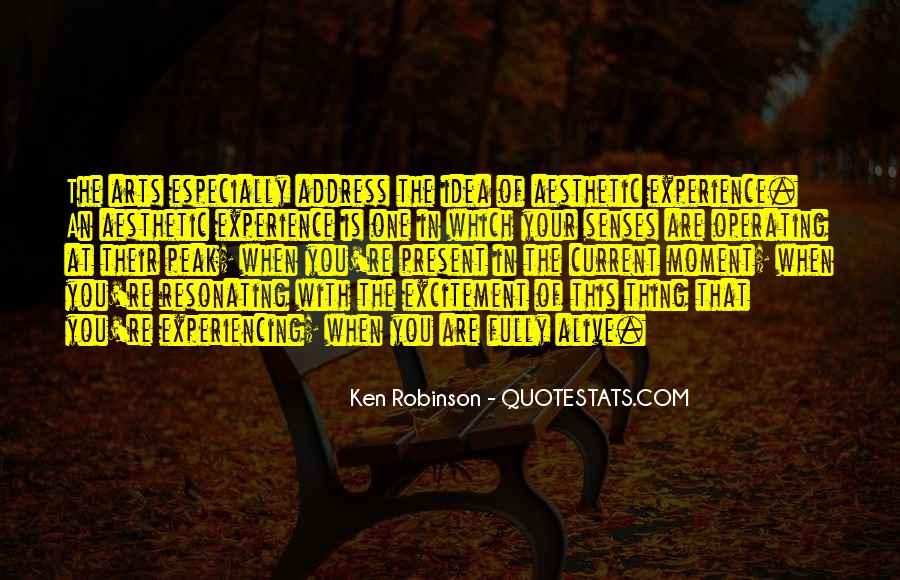 Quotes About Aesthetic Experience #1083412