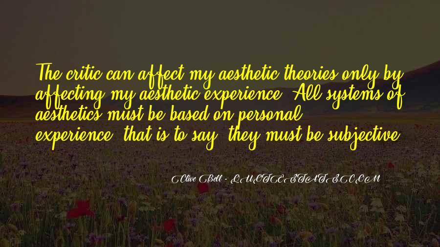 Quotes About Aesthetic Experience #1314124