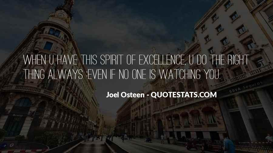 Spirit Of Excellence Quotes #1125796