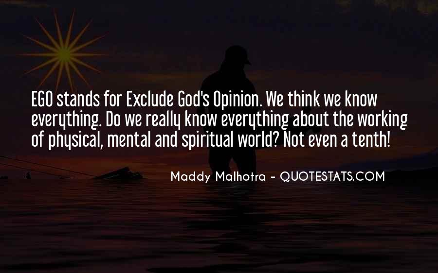 Spiritual And Physical Quotes #593723