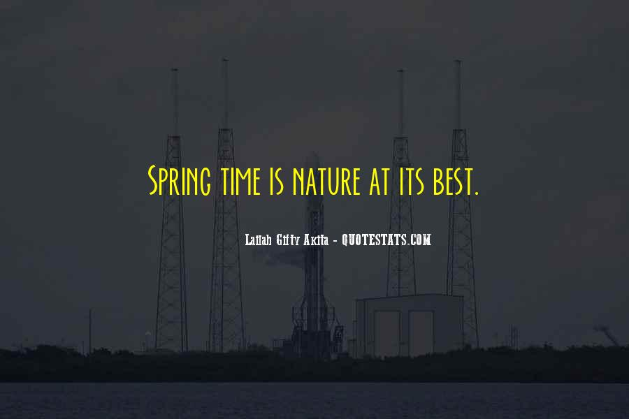 Spring Time Quotes #11357