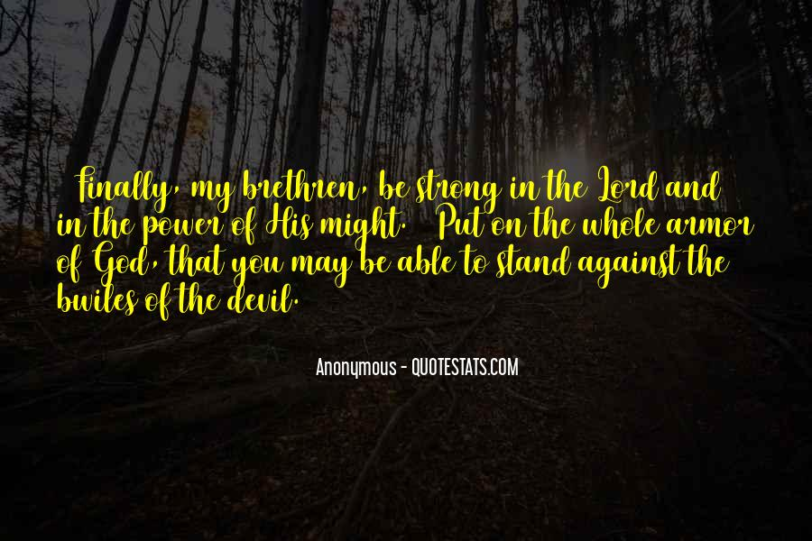 Quotes About Armor Of God #631215