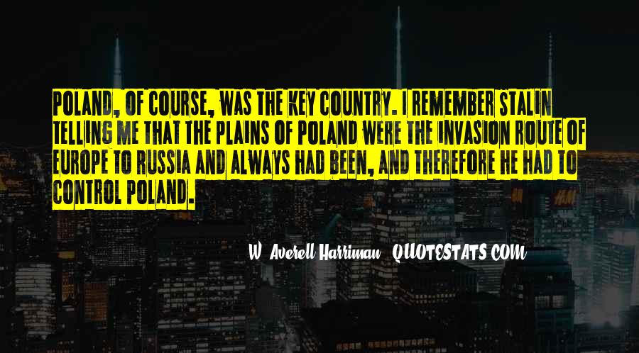 Stalin Poland Quotes #557887