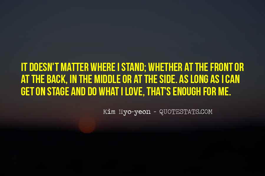 Stand By My Side Love Quotes #47008