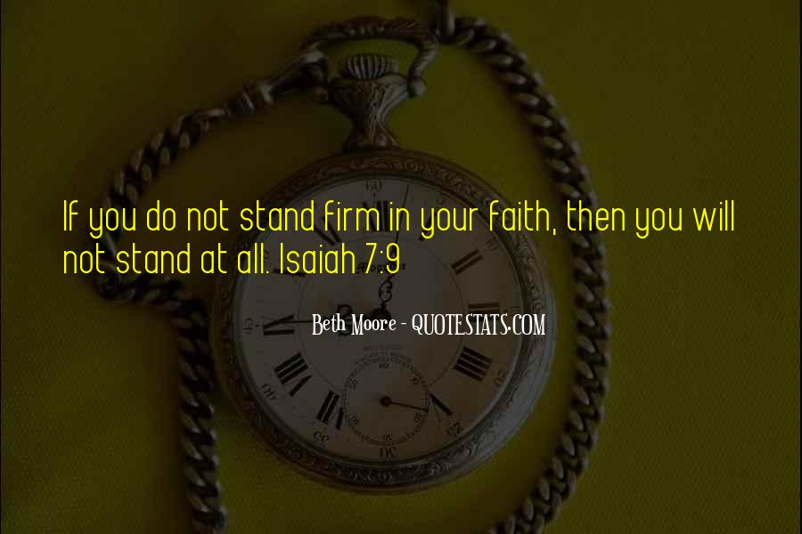 Stand Firm In Faith Quotes #519954