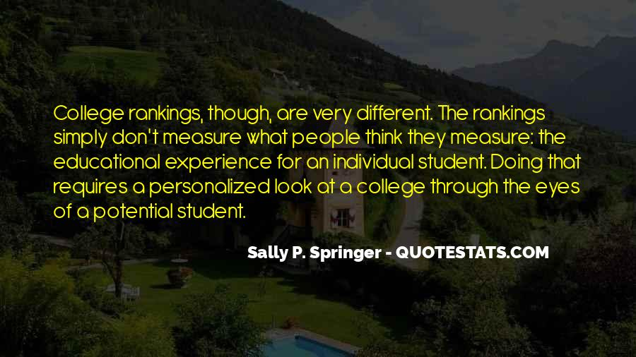 Quotes About Student Experience #1157238