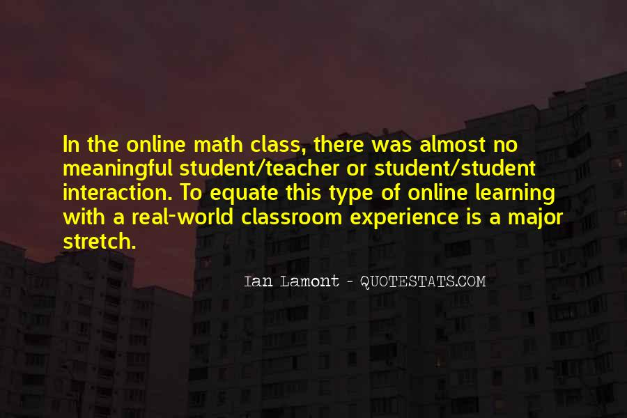 Quotes About Student Experience #647080