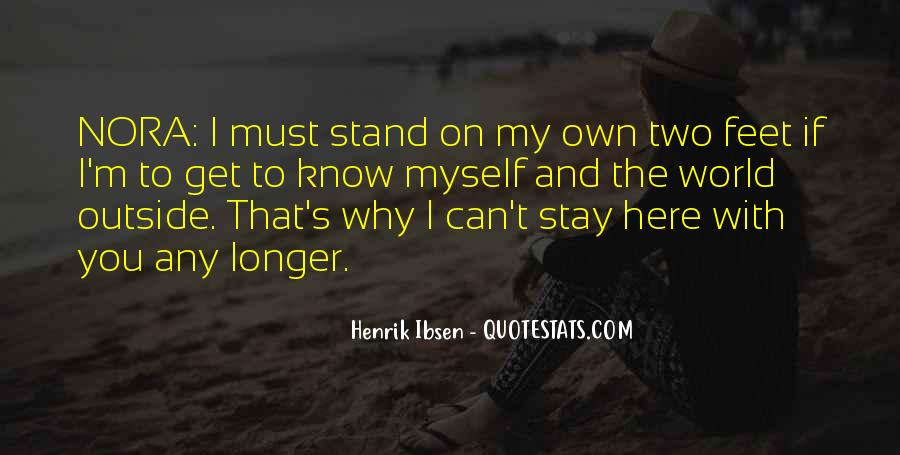 Stand On Own Feet Quotes #1127372