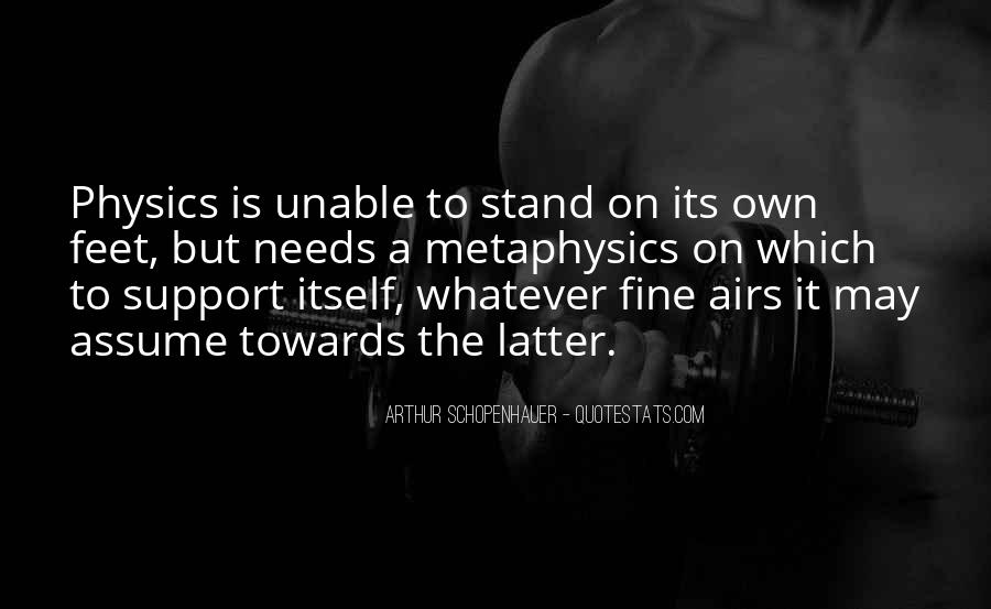 Stand On Own Feet Quotes #175441
