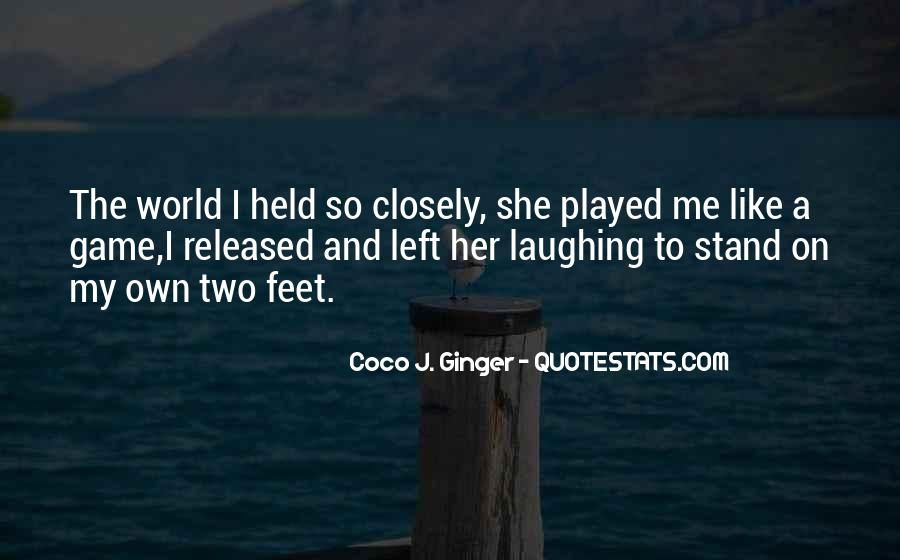 Stand On Own Feet Quotes #211141