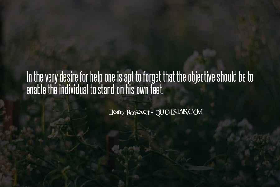 Stand On Own Feet Quotes #760949