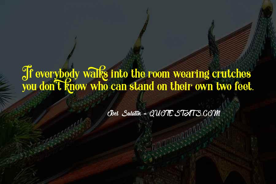 Stand On Own Feet Quotes #78800