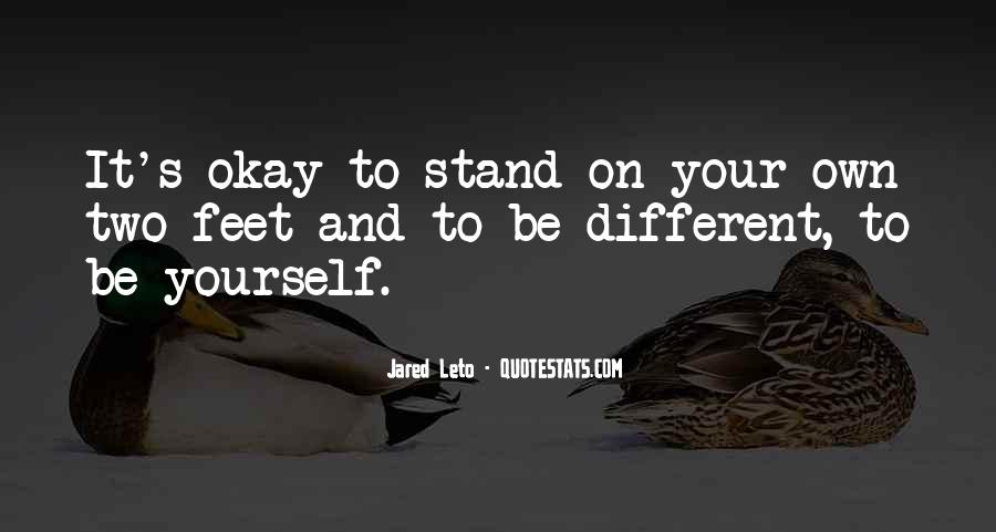 Stand On Own Feet Quotes #803527