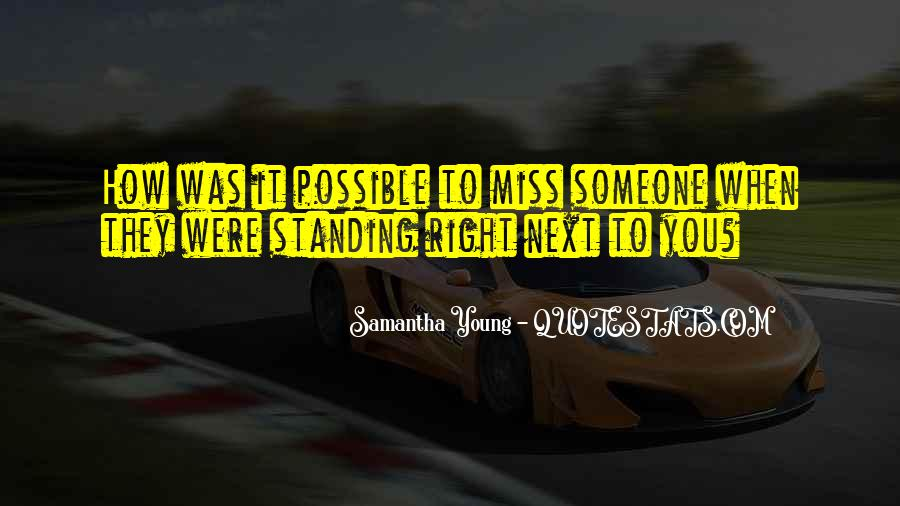 Standing Next To You Quotes #189834