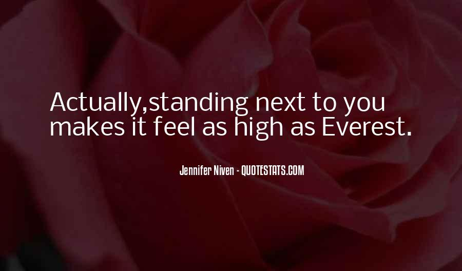 Standing Next To You Quotes #891317