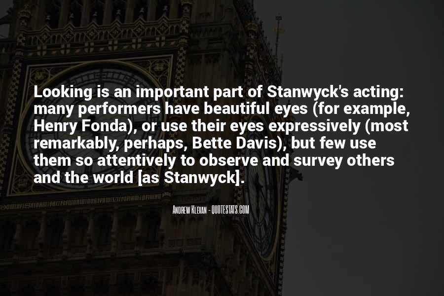 Stanwyck Quotes #727658