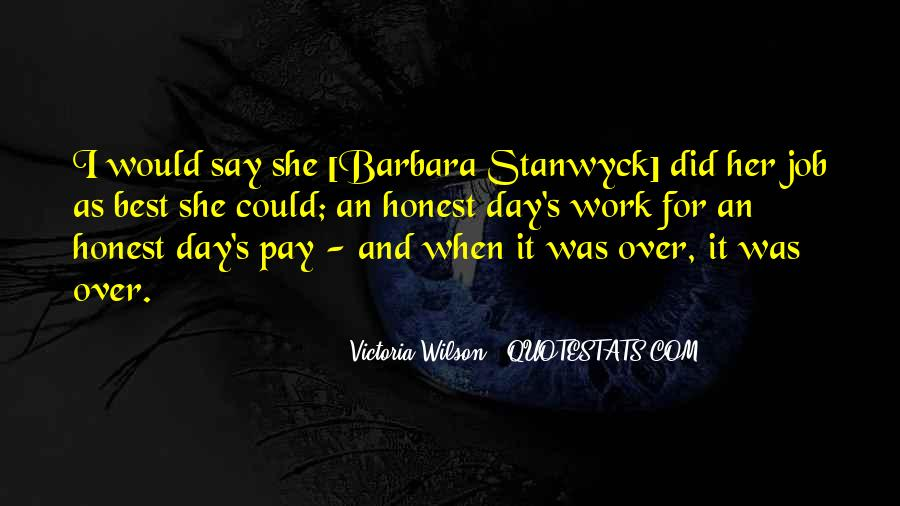 Stanwyck Quotes #834679