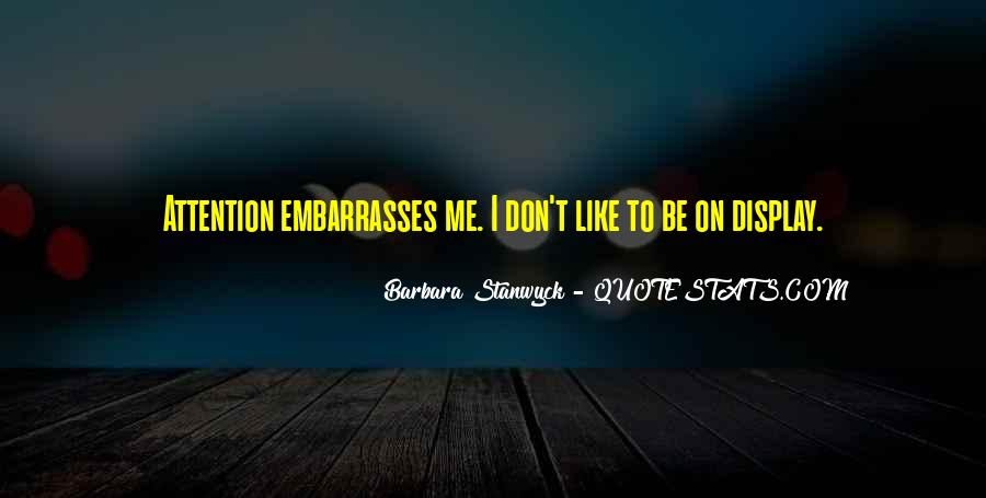 Stanwyck Quotes #986613