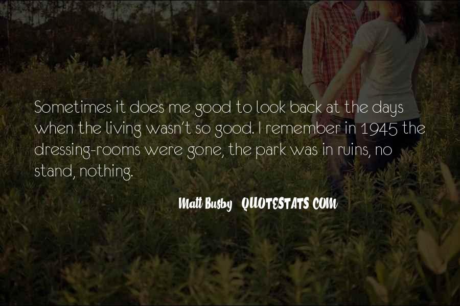 Quotes About Matt Busby #545196