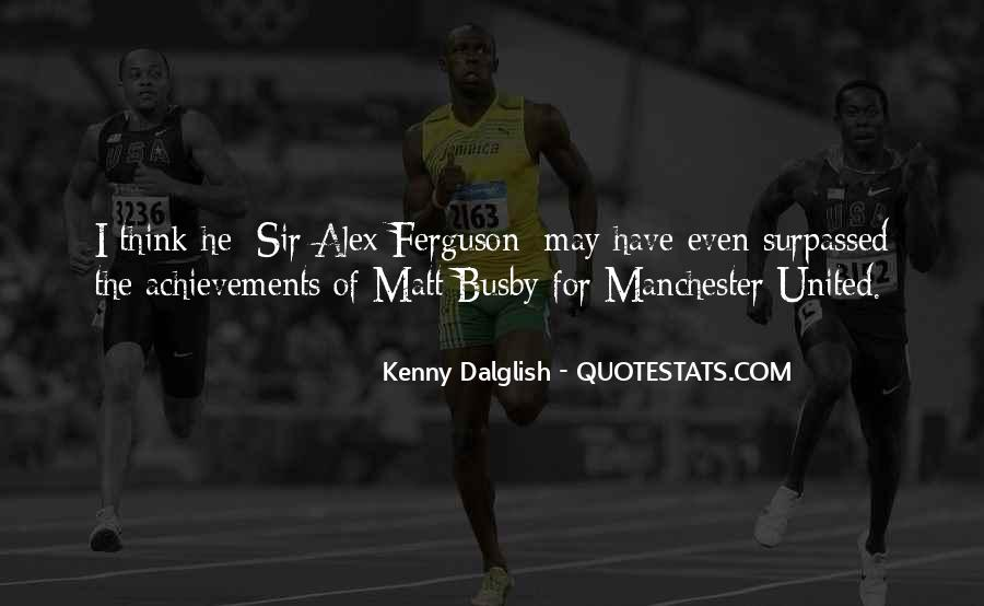 Quotes About Matt Busby #568344