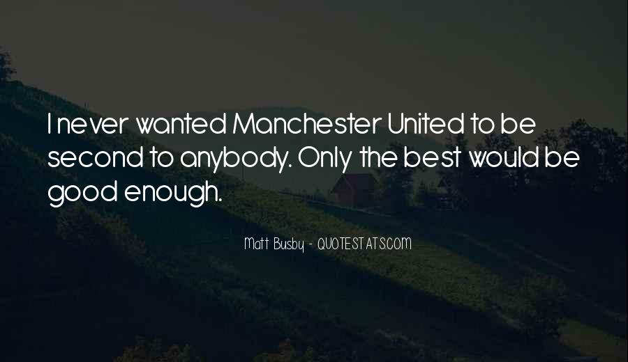 Quotes About Matt Busby #753886