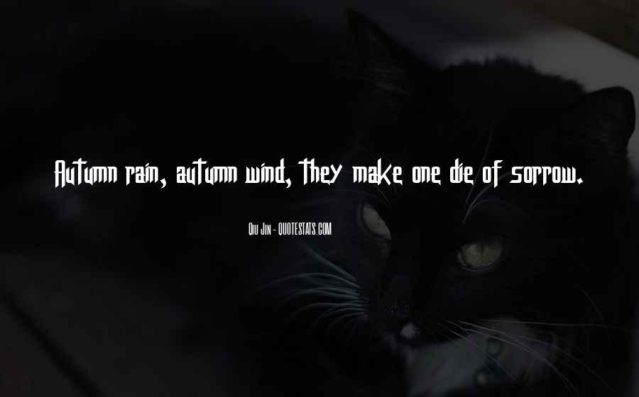 Quotes About Autumn Rain #1039156