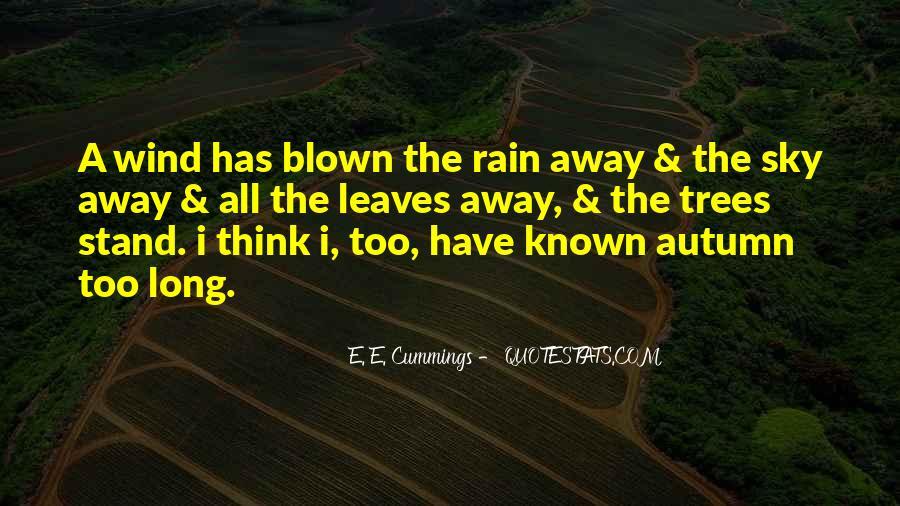 Quotes About Autumn Rain #278851