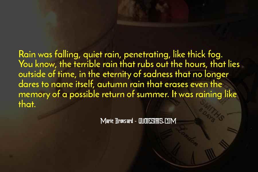 Quotes About Autumn Rain #571139