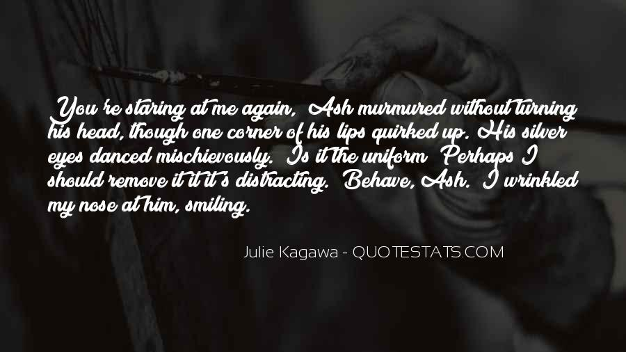 Staring Into Her Eyes Quotes #51625