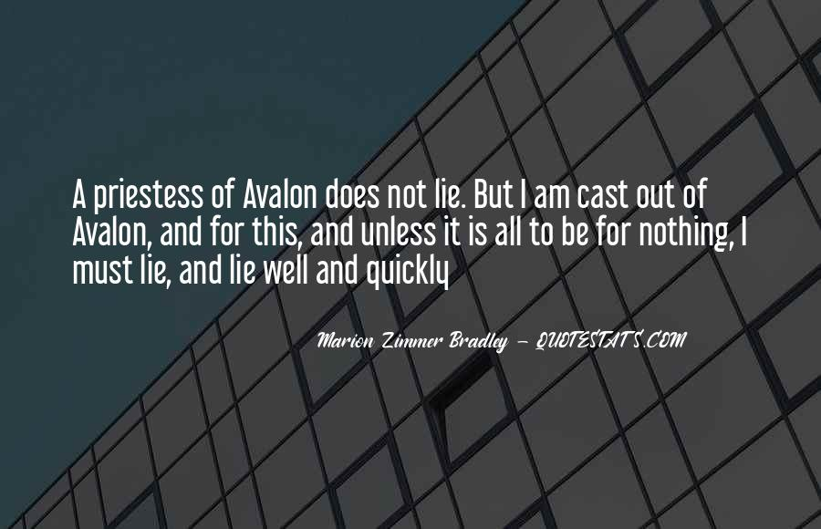 Quotes About Avalon #183137