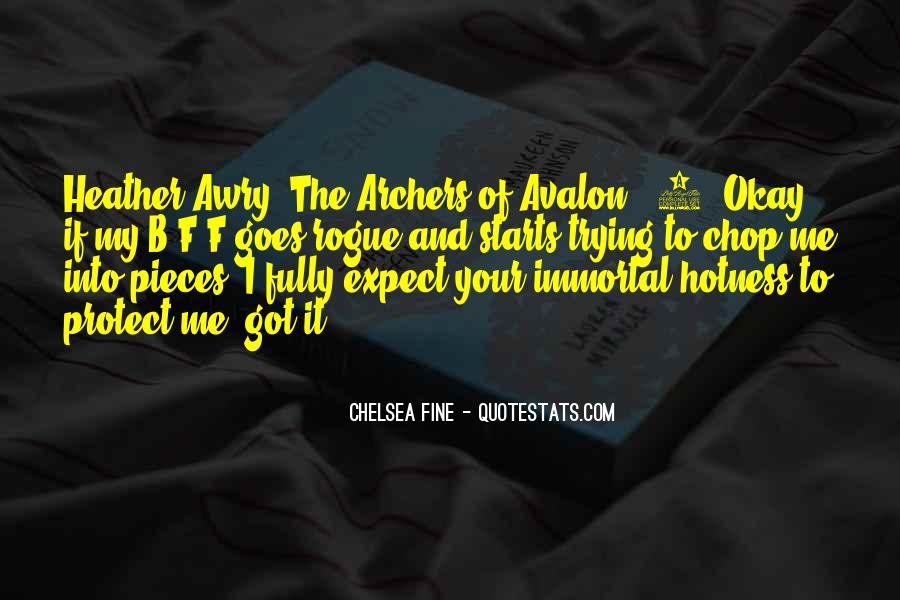 Quotes About Avalon #697576