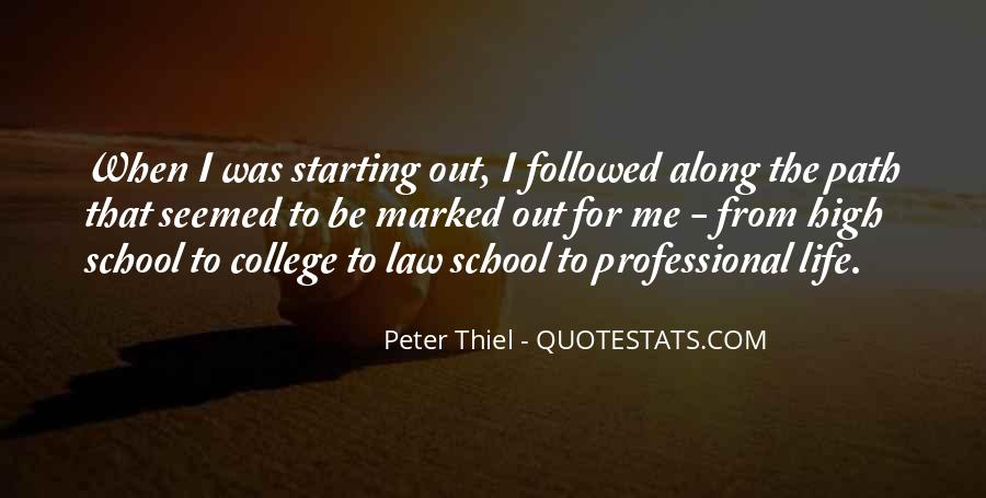 Starting School Life Quotes #1094307