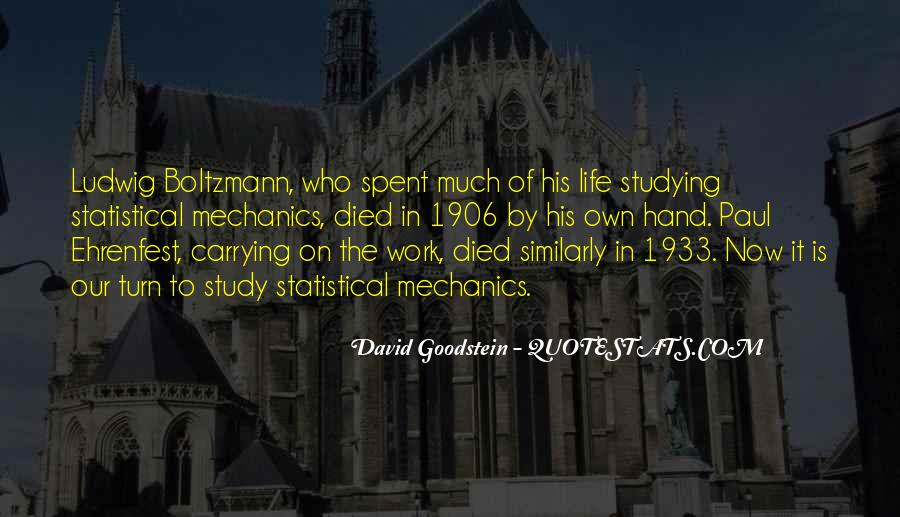 Statistical Mechanics Quotes #1512291